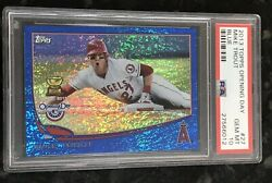 2013 Topps Opening Day Mike Trout 27 Blue /2013 Psa 10