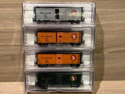 N Scale Challenger Great Northern 40' 1937 Box Cars 4-pack Gn Intermountain Rail
