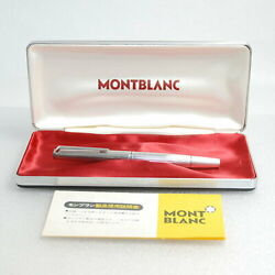 Montblac Fountain Pen Vintage Noand0391266 Sterling Silver 925 18k Nib F Pm04162