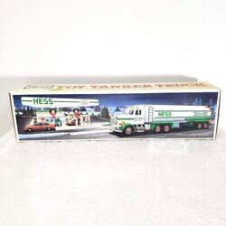 Hess Trucks 1990 Toy Tanker Truck New In Box Horn Back Up Alert Head And Taillight