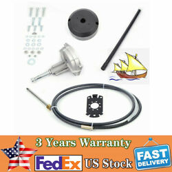Boat Rotary Steering System Kit Mechanical Manual Tapered Shaft For Yachts Usa