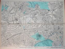 London - St. Johns Wood Hampstead And Primrose Hill By G. Bacon. 9 Scale. 1902