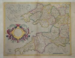 South-west England And South Wales For Mercator / Hondius Atlas, Circa 1630.