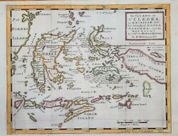 East Indies - The Island Of Celebes Or Macassar.... By H. Moll Circa 1740..