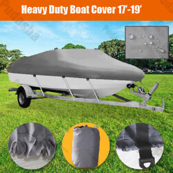 17and039 18and039 19and039 Heavy Duty 600d Boat Cover Waterproof Fishing V-hull 95and039and039 Beam Pbh2q