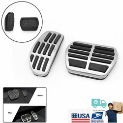 For Nissan Qashqai Gas Accelerator Brake Pedals Cover Stainless Steel Pads 2pcs