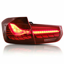 Dragon Scale Rose Red Led Sequential Taillights For 12-18 Bmw F30 3er F80 M3