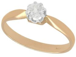 0.32ct Diamond And 14ct Rose Gold Solitaire Ring Antique Circa 1910