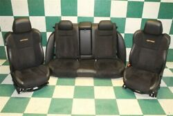 15-20 Charger Daytona Black Suede/leather Power Front Buckets Backseat Seats Oem