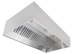 Commercial Kitchen Stainless Steel Exhaust Hood, Fan, And Pitched Roof Curb