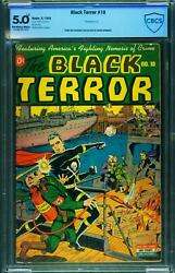 The Black Terror 10 Cbcs 5.0 Nazi Flame Thrower Wwii Cover-nedor-schomburg