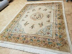 8x10 Brand New Chinese Rug Aubusson Peking Authentic 100 Wool Oriental Fine