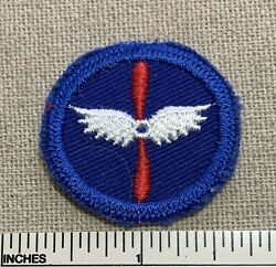 Vtg Civil Air Patrol Wings And Propeller Small Round Uniform Badge Patch