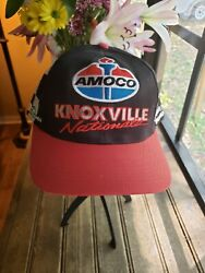 Rare Vintage 1999 Knoxville Nationals Cap/hat Amoco All Over Print Race Flag