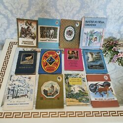 Children's Books 12 Pieces Fairy Tale Story In Russian. Vintage Old Books