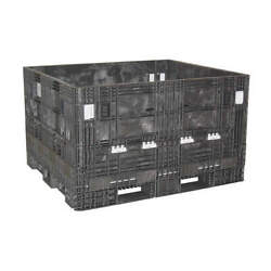 Orbis Hdr5648-25 Black Collapsible Container56-1/2x48 In