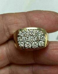 2.50 Ct Round Cut Diamond Cluster Engagement Ring 14k Yellow Gold Over Men#x27;s $105.00