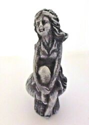 Latex Garden Girl Mold 4.5 H X 1.75 W Plaster Cement Casting Mould