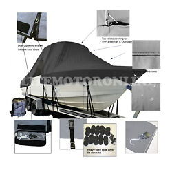 Dusky 217 Open Fisherman Center Console Fishing T-top Hard-top Boat Cover Black