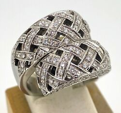 18kt White Gold And 1.26cttw Stunning Ladies Cocktail Ring Size 7