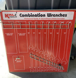 Rare Vintage Kal Tool Advertising Combination Wrenches Display Board Sign