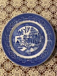 Vintage Caribe China Blue Willow Plate 9andrdquo