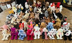 Lot Of 68 Ty Beanie Babies Retired Tush Swing Tags Protected Errors Clean Lot 8