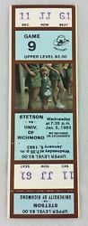 1983 01/05 Richmond At Stetson Basketball Full Ticket-johnny Newman 1st Year