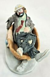 Signed Emmett Kelly Jr Miniature Collection From Flambro Figurine