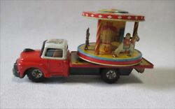 Antique Japanese Tin Toys 1950s Nomura Toy Merry-go-round Truck Made In Japan Yj