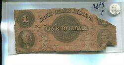 Indiana State Bank 1857 1 Obsolete Currency Note Fair 3/4 Note R7 2849p