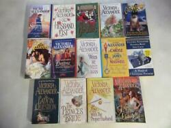 Big Lot Of 14 Victoria Alexander Historical Romance Books The Lady In Question