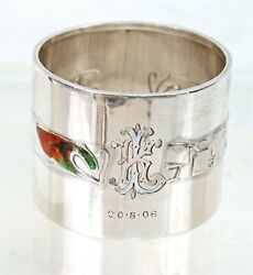 Liberty And Co Sterling And Enamel Cymric Napkin Ring 1903
