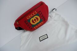 New Cross Body Bum Bag Red Leather Bnwts Gg