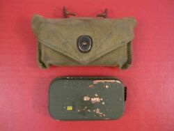 Wwii Us Army M1924 First Aid Kit Canvas Pouch W/carlisle Bandage - Dtd 1940and039s 3