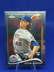 Rare 🔥 2014 Topps Update Chrome Jacob Degrom Rc Rookie Mb-19 ☆ Mets Ace 💰 📈