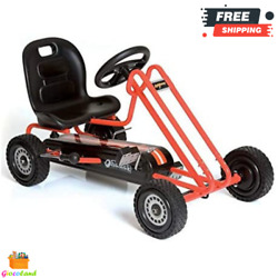 Pedal Go Kart Steel Ride On Toys For Boys And Girls With Ergonomic Adjustable Seat