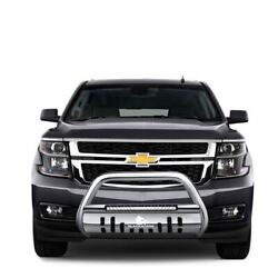 Black Horse Beacon Bull Bar Skid Plate Stainless Steel Fit 2007-2013 Avalanche