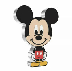 Chibi Coin Disney Series Mickey Mouse 1oz Silver Coin In Hand