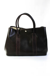 Hermes Amazonia Leather Garden Party 36 Tote Bag Brown