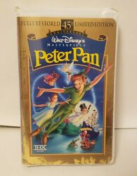 Peter Pan Vhs, 1998, 45th Anniversary Limited Edition 1953 Remastered