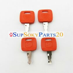 4x Ignition Key Re183935 For John Deere Tractor 110 Tlb 3120 3203 3320 3520 3720