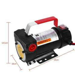 200w Electric Diesels Fuel Oil Powerful Auto Transfer Extractor Pump W/ Nozzle