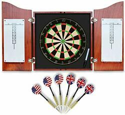Dart Board For Adults Ready To Play Bundle With Bristle Dartboard W/solid Woo...