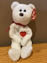 Ty Beanie Babies Valentino The Rabbit With Two Birthdates And Pvc