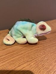 Ty Beanie Babies Iggy The Iguana 1997 With Two Different Colored Eye Sockets