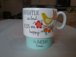 Hallmark Mother#x27;s mug LAUGHTER is loud. KIDS are happy. In MOM#x27;S house...