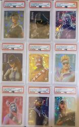 Fortnite Series 1 Cracked Ice Promos P1-p9 Psa Graded Collection