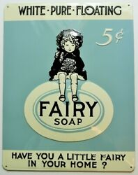 Fairy Soap Premium Embossed Tin Sign Ande Rooney Vintage Style Classic Vintage S