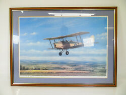 E. A. Mills - And039early Daysand039 - Limited Edition Tiger Moth Print - 3/500 Signed